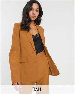 Светло коричневый блейзер от комплекта Fashion union tall
