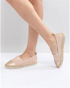 Туфли слипоны на веревочной подошве Розовый Head over heels by dune
