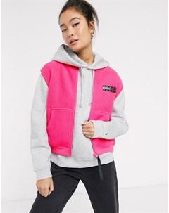 Неоновый флисовый жилет с логотипом Розовый Tommy jeans