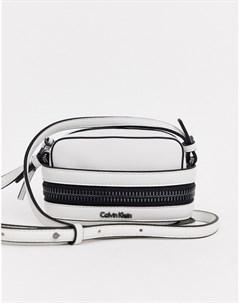 Белый миниатюрный клатч Calvin klein