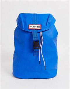 Синий рюкзак из прорезиненной кожи Hunter