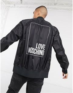 Олимпийка с логотипом Черный Love moschino