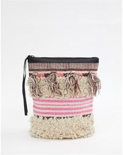 Фактурный рюкзак с кисточками Gabby Мульти Cleobella