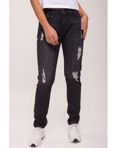 Джинсы Ladies Boyfriend Denim Pants Black Washed 30 Urban classics