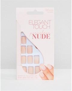 Накладные ногти с матовым оттенком Nude Collection Squoval Розовый Elegant touch