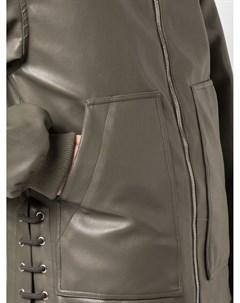 Куртка оверсайз из искусственной кожи Nomia