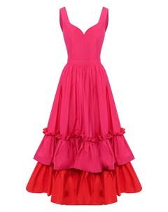 Платье миди Alexander mcqueen