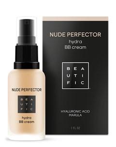 BB крем тонирующий с гиалуроновой кислотой 2 теплый бежевый Nude Perfector 30 мл Beautific