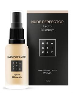 BB крем тонирующий с гиалуроновой кислотой 1 светлый бежевый Nude Perfector 30 мл Beautific