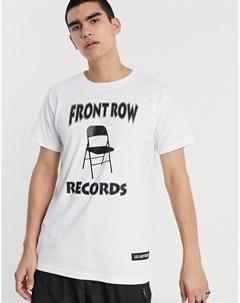 Белая футболка Front Row Records Les (art)ists