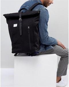 Черный рюкзак роллтоп Dante Sandqvist