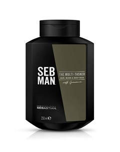 Seb Man The Multitasker 3 В 1 Шампунь Для Ухода За Волосами Бородой И Телом 250 Мл Sebastian professional