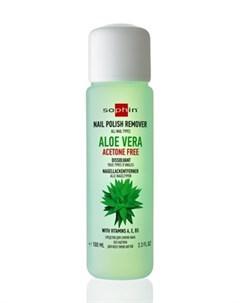 Aloe Vera Acetone Free Nail Polish Remover Средство Для Снятия Лака С Алое Вера Без Ацетона 100 Мл Sophin