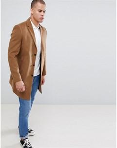 Светло коричневое пальто Светло коричневый New look
