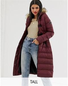Удлиненное дутое пальто Красный Brave soul tall