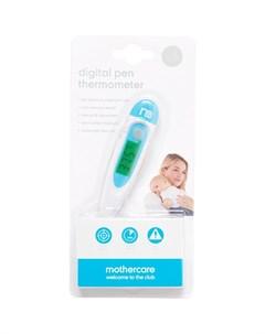 Цифровой термометр ручка цвет бело синий Mothercare