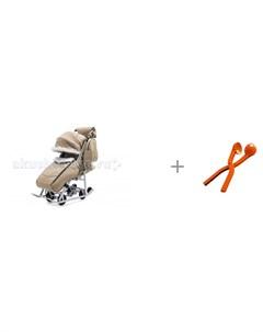 Санки коляска Снеговик со снежколепом Снежкодел рф мини 8594 Pikate