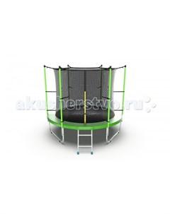 Батут Internal с внутренней сеткой и лестницей 8ft Evo jump