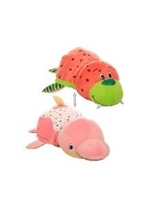 Мягкая игрушка Вывернушка Морж и Дельфин с ароматом 40 см 1toy