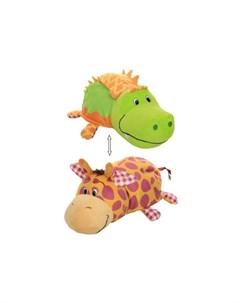 Мягкая игрушка Вывернушка Крокодильчик и Жираф с ароматом 40 см 1toy