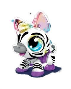 Интерактивная игрушка РобоЛайф Зебра со световым эффектом 1toy