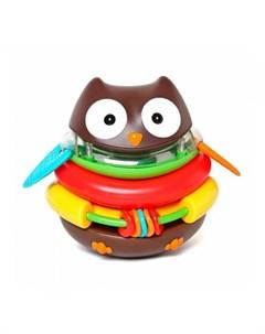 Развивающая игрушка пирамида неваляшка Сова Skip hop