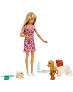 Кукла Doggy Daycare с домашними питомцами Barbie