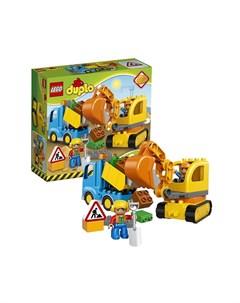Конструктор Duplo 10812 Лего Дупло Грузовик и гусеничный экскаватор Lego