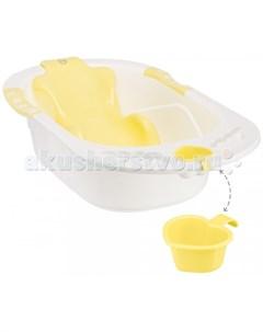 Ванночка детская с анатомической горкой Bath Comfort Happy baby