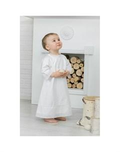 Крестильная рубашка Ажурный хлопок 18 001 10 Alivia kids