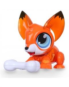 Интерактивная игрушка РобоЛайф Лисенок с аксессуаром 1toy