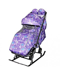 Санки коляска Snow Kids 3 1 Ёлки на больших колесах Galaxy