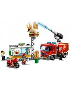 Конструктор City 60214 Fire Пожар в бургер кафе Lego