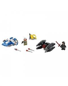 Конструктор Star Wars Истребитель типа A против бесшумного истребителя СИД Lego