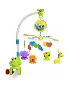 Мобиль на кроватку Музыкальная карусель Toys Лягушонок Bertoni (lorelli)