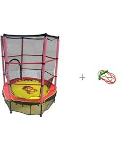 5 Батут детский с защитной cеткой со скакалкой 2 2 метра Стеллар Perfetto sport