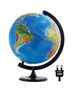Глобус физико политический рельефный 32 см с подсветкой Глобусный мир