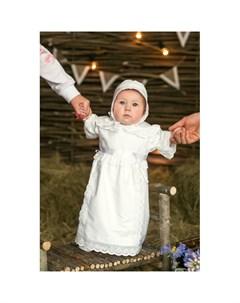 Крестильный набор для девочки Воздушное шитье 15 253 13 Alivia kids