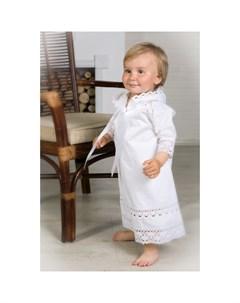 Крестильная рубашка Ажурный хлопок 18 003 10 Alivia kids
