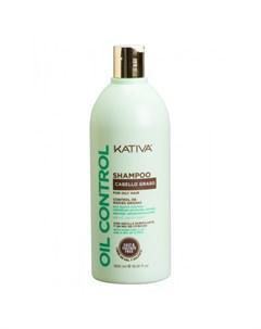 Oil Control Шампунь Контроль для жирных волос 500 мл Kativa