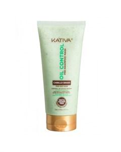 Oil Control Маска Контроль перед мытьем шампунем для жирных волос 200 мл Kativa