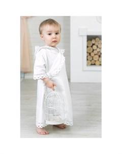 Крестильная рубашка Ажурный хлопок 18 002 10 Alivia kids