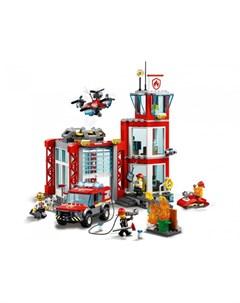 Конструктор City 60215 Fire Пожарное депо Lego