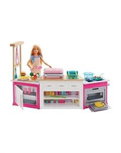 Игровой набор Супер кухня с куклой Barbie