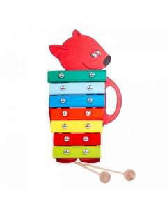 Музыкальный инструмент Ксилофон Лисичка Ми-ми-мишки
