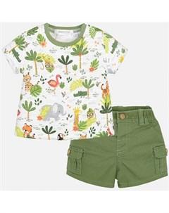 Комплект одежды для мальчика бриджи и фуфайка 1221 Mayoral