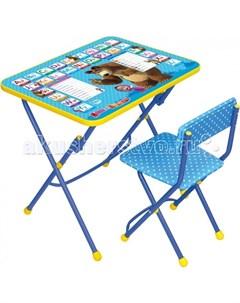 Набор мебели Маша и Медведь стол парта мягкий стул Nika