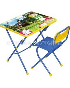 Набор мебели Маша и Медведь стол парта стул Nika
