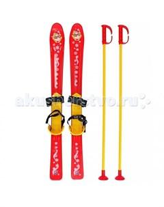 Ледянка Лыжи детские с палками и креплениями R-toys