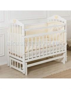 Детская кроватка Pali с мишкой без ящика продольный маятник Incanto